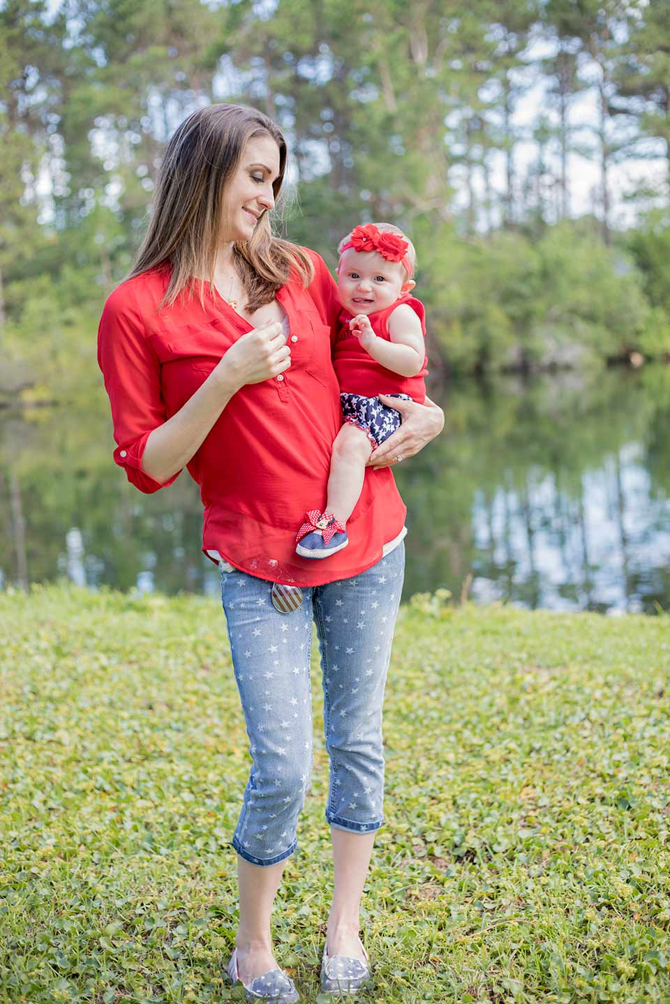 fourth of july mommy and baby outfit
