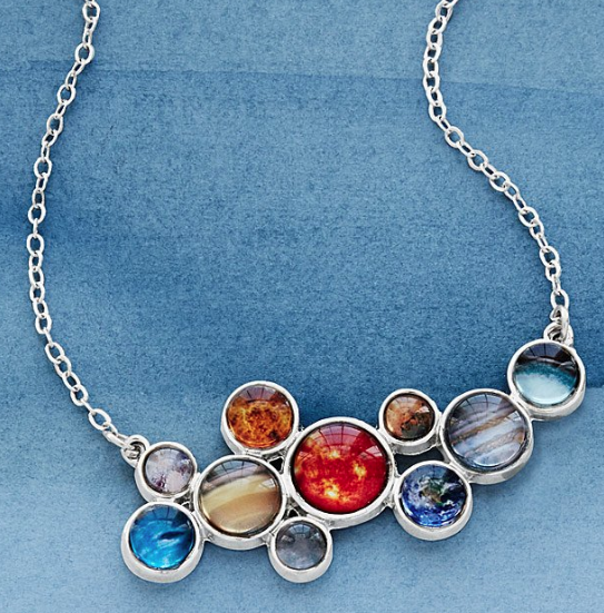 Solar System Bubble Bib Necklace